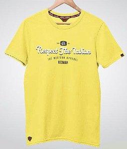 Camiseta Estampada Red Man Amarela