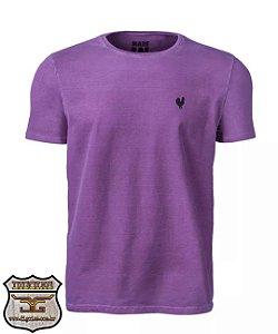 Camiseta Made in Mato Básica Stone Roxa