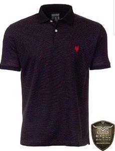 Camisa Pólo Made in Mato Jacquard Preta