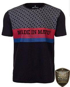 Camiseta Made in Mato Estampa Preta