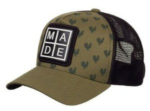 Boné Made in Mato Trucker Stamp Rooster Musgo