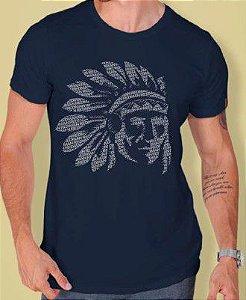 Camiseta Red Man Índio Azul Marinho
