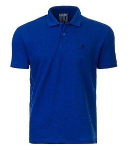 Camisa Pólo Made in Mato Piquet Azul Royal