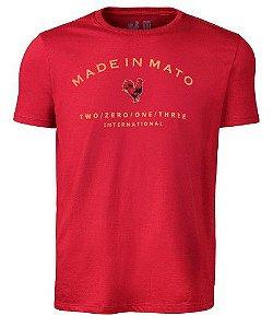 Camiseta Made in Mato Estampada Vermelha