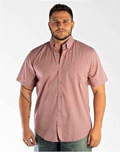 Camisa All Hunter Xadrez Manga Curta - Vinho / Branca