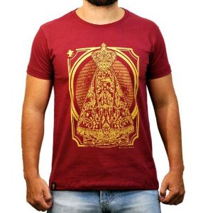 Camiseta Sacudido's Aparecida Vinho