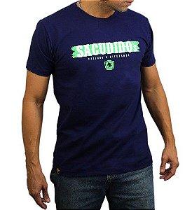 Camiseta Sacudido's Assinatura Marinho
