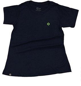Camiseta Tuff Feminina Marinho Logo Verde Limão