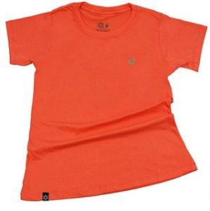 Camiseta Tuff Feminina Laranja Logo Turquesa