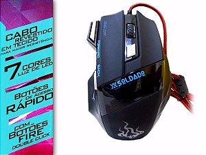 Mouse Gamer X Soldado GM 700