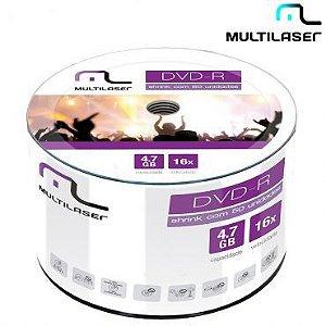 Midia DVD-R com 50 Unidades Capacidade 4.7GB