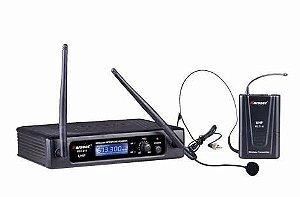Microfone sem fio Karsect KRU-210 UHF