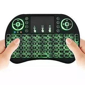 Mini Teclado Mouse - Tv Box - PC- Com Luz Noturna