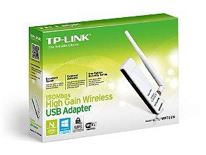 ADAPTADOR USB WIRELESS TP-LINK TL-WN722N 150MBPS