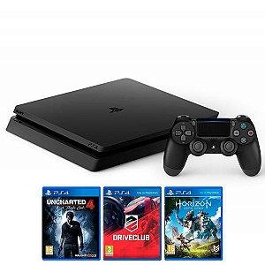 Console PlayStation 4 Slim 500GB - 3 Jogos