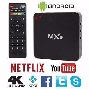 TV Box MX9 - 2GB - 16GB Armazenamento