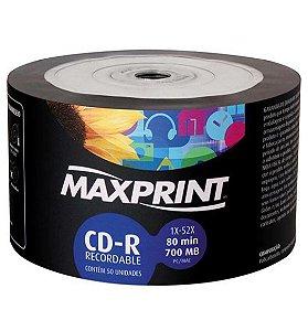Cd-r Print Plus 52x Mídia Com Logo 50 Unidades