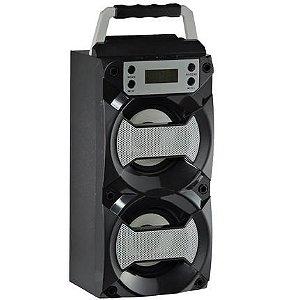 Caixa De Som Bluetooth Usb / Fm / Com Leds