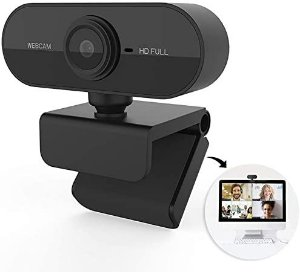 Webcam camera USB HD 1080P com microfone