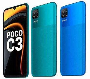 """Xiaomi Poco C3 4GB RAM 64GB Tela 6.43"""" 3 Câmeras"""