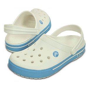 Crocs Crocband 2.5 Branco e Azul Claro