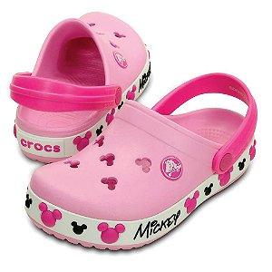 Crocs Crocband Kids Mickey Pink