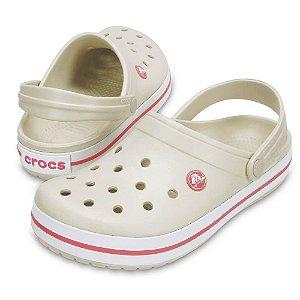Crocs Crocband Bege e Salmão