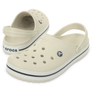 Crocs Crocband Bege e Branco