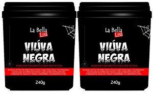 Kit 2 Máscaras Reconstrutoras Viúva Negra Efeito Teia La Bella Liss 240g
