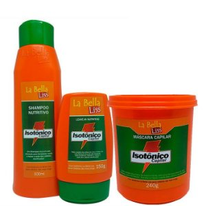Isotônico Capilar Kit Shampoo 500ml + Leave-in 150g + Máscara 240g
