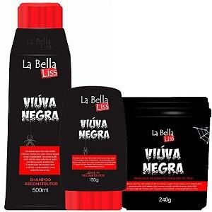 Viúva Negra Kit Shampoo 500ML + Leave-in 150g + Máscara 240g La Bella Liss