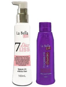 Leave-in 7 Dias Liss 160ml + Progressiva No Chuveiro 100ml La Bella Liss