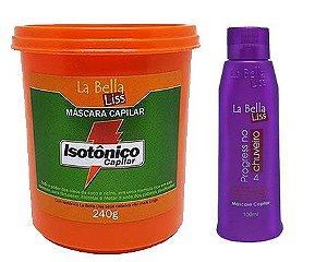 Isotônico Capilar Máscara De Nutrição 240g + Progressiva No Chuveiro 100ml La Bella Liss