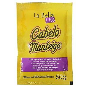 Cabelo Manteiga Sachê 50ml Máscara de Nutrição Profunda La Bella Liss