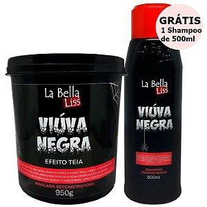 Kit Máscara Viúva Negra 950g + GRÁTIS 1 Shampoo Viúva Negra 500ml La Bella Liss