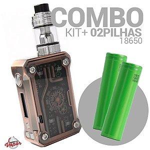 COMBO Kit Punk 220w - Teslacigs + 2 Bateria/Pilha 18650