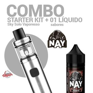COMBO Kit Sky Solo - Vaporesso + 1 líquido Nay 0mg - 30ml