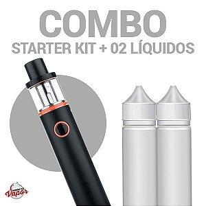 COMBO Kit Vape PEN 22 com 02 Líquidos