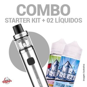 COMBO Kit Sky Solo - Vaporesso + 2 líquidos Mr.Freeze - 100ml