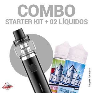 COMBO Kit Sky Solo Plus - Vaporesso + 2 líquidos Mr.Freeze - 100ml