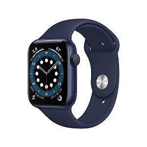 Apple Watch Series 6 44mm Caixa Azul e Pulseira Azul Marinho