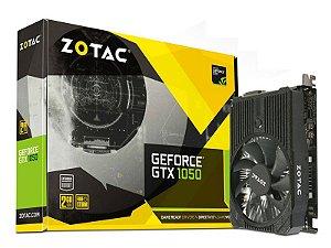 Placa de Vídeo Zotac GeForce GTX GTX 1050 2Gb DDR5 128Bit 7000Mhz 1354Mhz 640 Cuda Cores Dvi Hdmi Dp