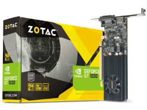 Placa de Vídeo Zotac GeForce GT 1030 Low Profile 2Gb DDR5 64 Bit 1227Mhz 6000Mhz 384 Cuda Cores Dvi Hdmi