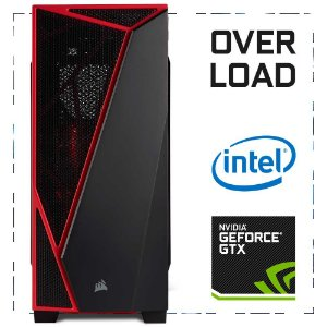 PC Gamer OVERLOAD I5-7400 + GTX 1050 TI 8GB DDR4 1TB 500W 80 Plus Corsair Spec-04 RED