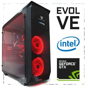 PC Gamer EVOLVE I3-7100 + GTX 1050 TI 8GB DDR4 1TB 500W 80 Plus Volcano VC610