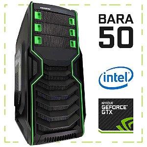 PC Gamer BARA 50 G4560 + GTX 1050 8GB DDR4 1TB 500W 80 Plus Microdigi MD-515BG