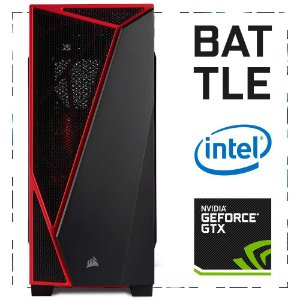 PC Gamer BATTLE I3-7100 + GTX 1060 3GB 8GB DDR4 1TB 500W 80 Plus Corsair Spec-04 RED