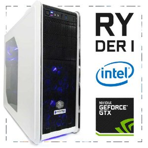 PC Gamer RYDER I I7-7700 + GTX 1060 3GB 16GB DDR4 1TB 500W 80 Plus Cooler Master CM 590 III WHITE