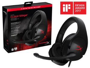 Headset Gamer HyperX Cloud Stinger Preto - HX-HSCS-BK/NA