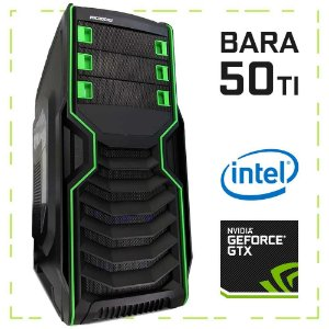 PC Gamer BARA 50 TI G4560 + GTX 1050 Ti 8GB DDR4 1TB 500W 80 Plus Microdigi MD-515BG